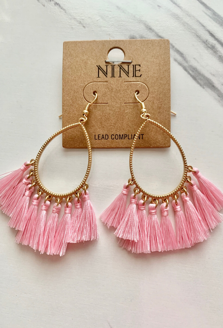Tassel Oval Earrings