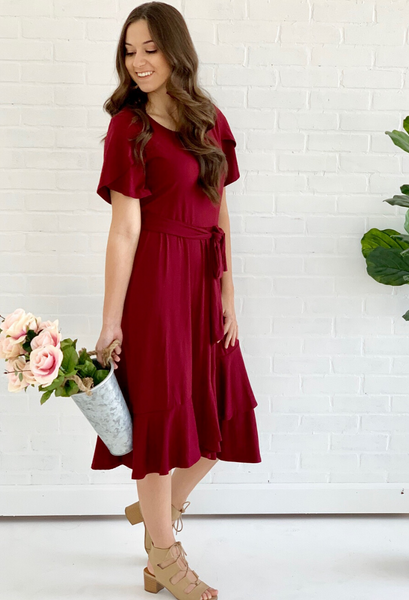 Haley Tulip wrap dress