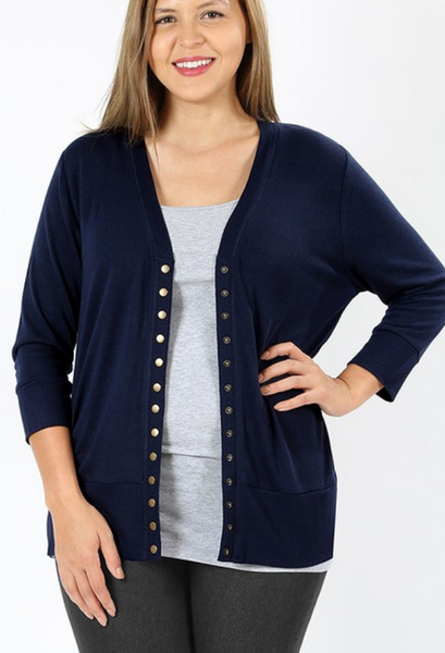 Perfect Sweater Cardigan     18 Colors S-3X