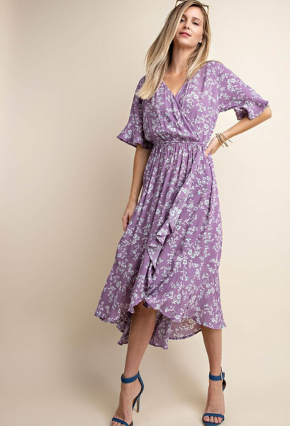 Bali Floral Wrap Dress
