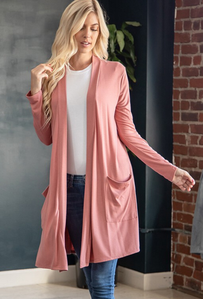 Caraway Duster-Dusty Rose