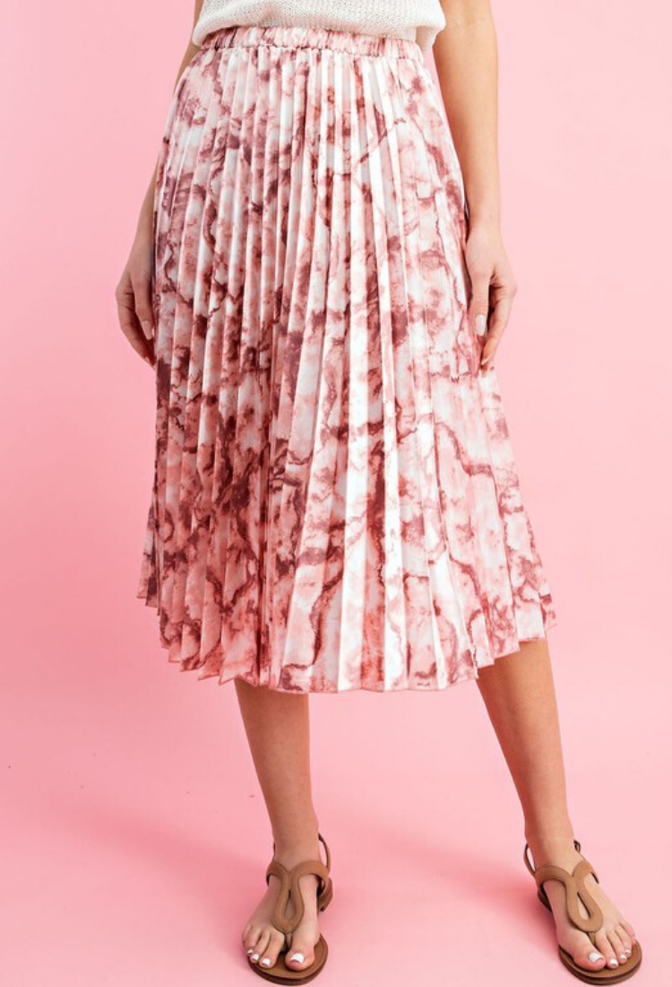 Marbled Midi skirt