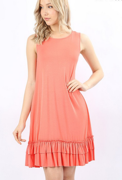 tank ruffle dress