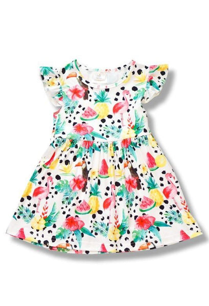 girls tropical dress