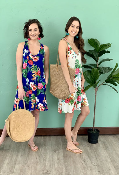 Tropical Floral Dress/Coverup