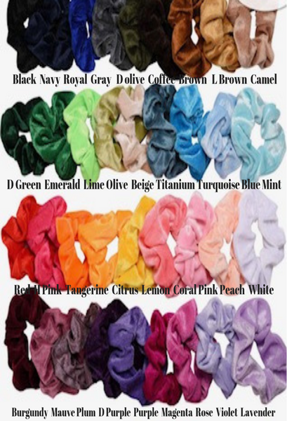 Velvet Plush Scrunchies