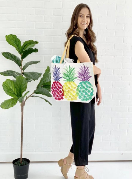 pineapple beach bag