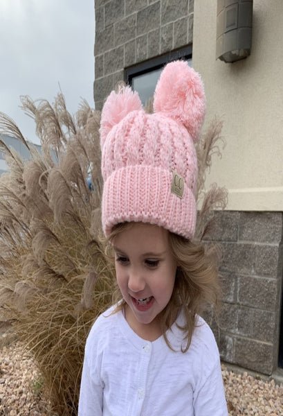 C.C Kids Double Pom hat