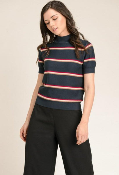Stripe mock sweater
