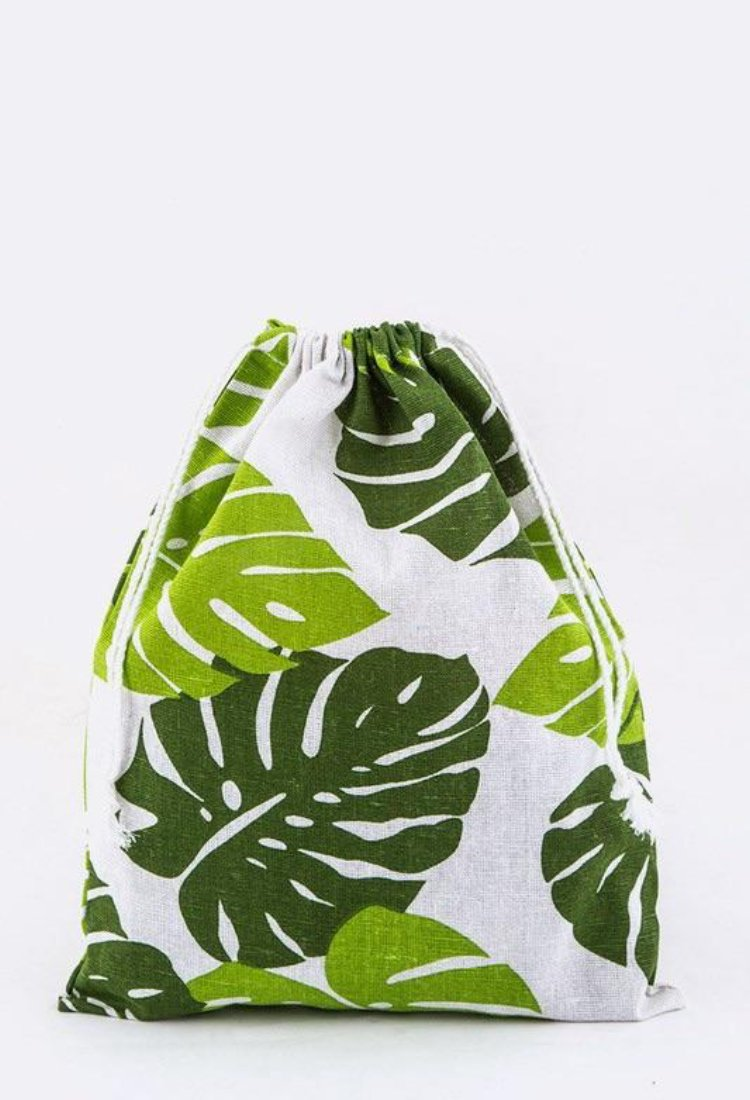 tropical canvas tote bag