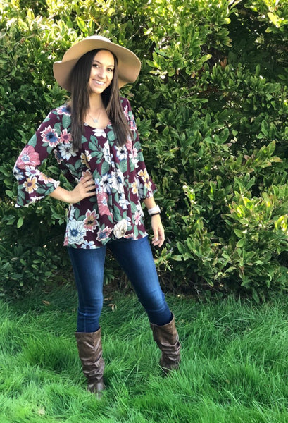 Layla twisted Floral top