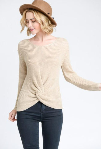 Twisted knot sweater