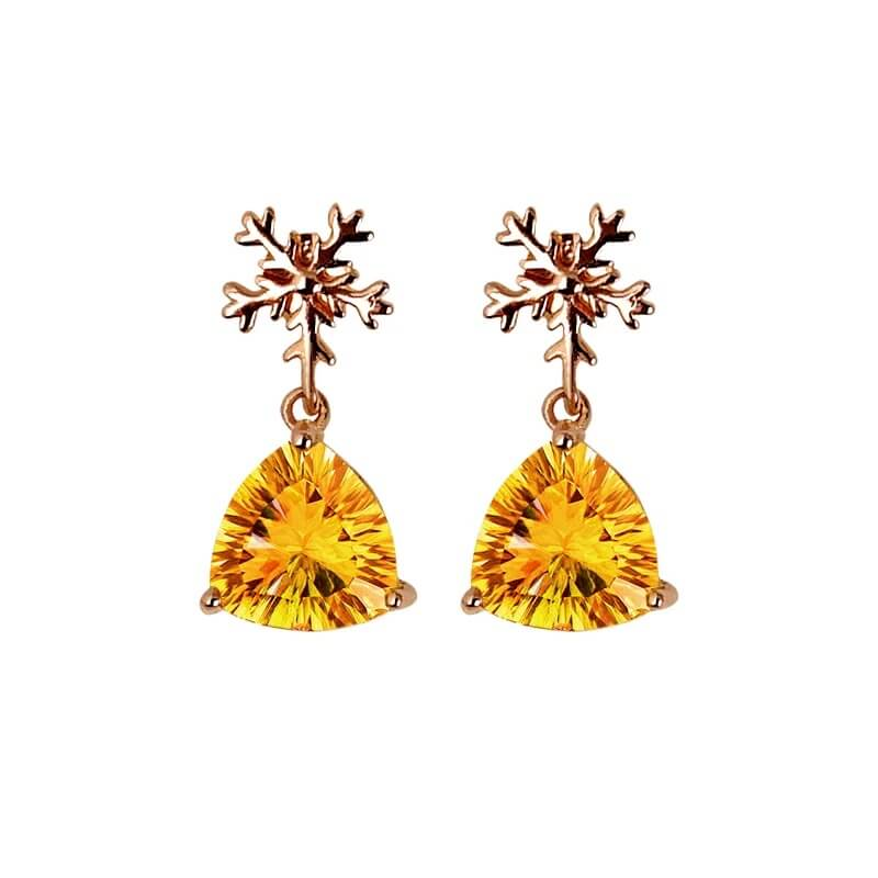 Citrine Earrings November birthstone Starrystone