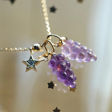 Amethyst 'Grape' Bracelet in 18K Gold February Birthstone - StarryStone