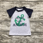 Kids Jesus is my anchor T shirts