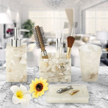 White Marble Bathroom Set