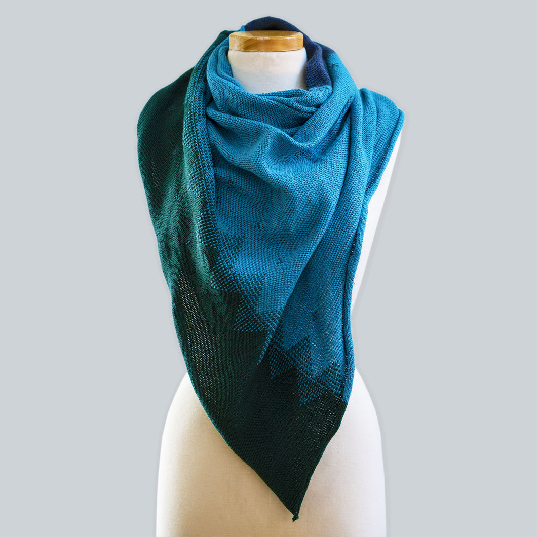 Cradle Mountain - 100% Cotton Triangle Scarf