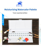 Moisturizing Watercolor Paint Palette 24 Grid Professional Art Plastic Watercolor Palette Art Supplies
