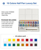 Winsor & Newton Solid Watercolor Paints 12/16/24/45 Colors Half Pans Pigment Set For Artist Art Supplies