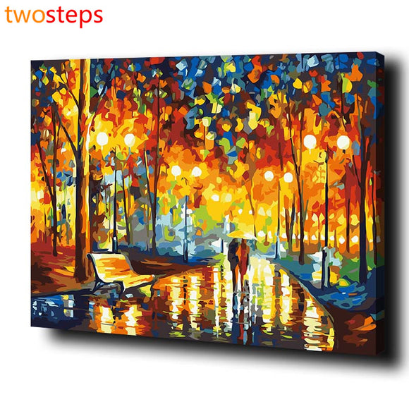 Abstract Digital Canvas Oil Painting By Numbers DIY Pictures Acrylic Paint By Number Kits