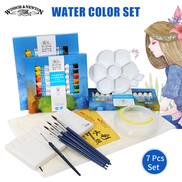Winsor & Newton 12/18/24 Water Color Set High Quality Solid Watercolor Paints Pigment Set