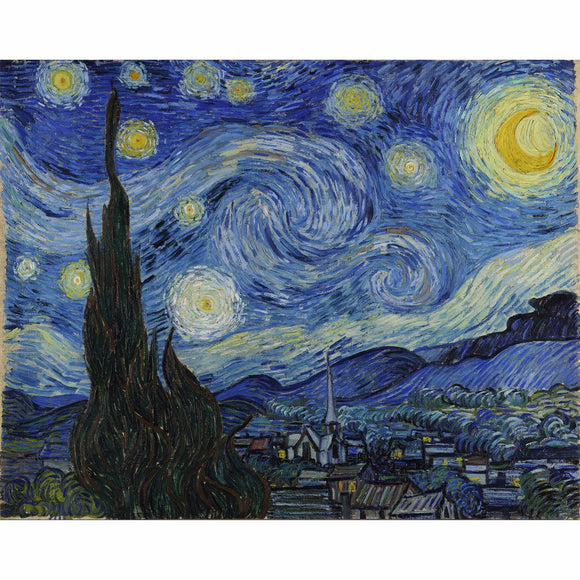 Famous The Starry Night abstract oil painting Van Gogh painting by numbers decor wall art on canvas pictures for living room