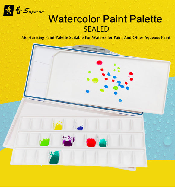 Paint Palette Superior Moisturizing Watercolor Professional Plastic Watercolor Art Palette Supplies paleta acuarela