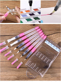 6Pcs Water Brush Water Paint Brush Set Large Capacity Soft Watercolor Painting Brush Pen For Beginner to Professional Drawing Art Supplies by Superior