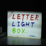 Cinema Light Box DIY LED Cinema Lightbox Message Board Writting Board A4 3 Line for Birthday Wedding Party Store Sign
