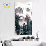 Asian classic 16x32 inch large oil painting by numbers drawing wall decor paint by numbers
