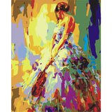 Ballet dancer oil painting by numbers paint drawing coloring by numbers canvas