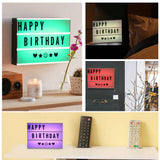 Mini Remote Control Light Box Colorful Combination LED Night Lamp DIY BLACK Cards Letter Light LED USB Lightbox