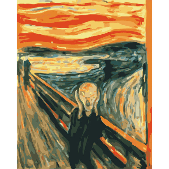 Famous Digital Oil Painting the scream paint by numbers Canvas Wall art decor 40x50cm frameless
