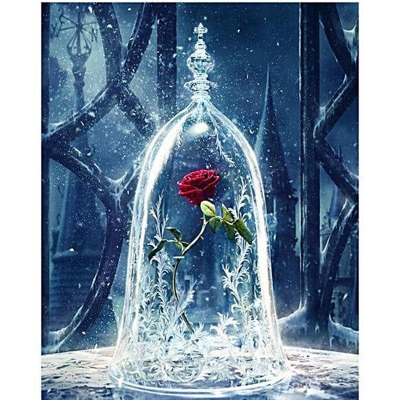 Fantasy Rose Painting By Numbers Flowers Acrylic Paint On Canvas Modern Painting
