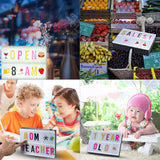 LED Cinema Light Box Message Board White Board DIY Interchangeable Letters Numbers Symbols Characters Cards Free Combination