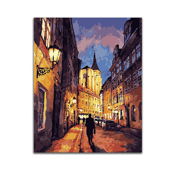 Landscape Painting By Numbers DIY Kits Coloring Painting By Number Crafts Wall Art Picture Artwork