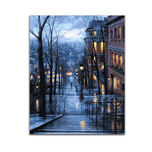 City Night Painting By Numbers DIY Canvas Paint By Number Kits Home Wall Decor Art Picture Coloring
