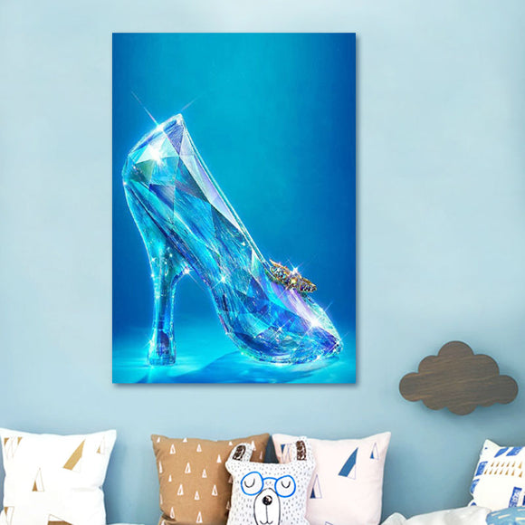 The Little Glass Slipper ; Crystal Shoe Fantasy Paint by Numbers ; DIY Coloring by Numbers