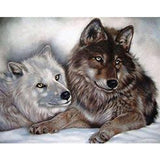 5D DIY Diamond Painting Crystal square diamond embroidery wolf  Paint By Number Diamond Mosaics