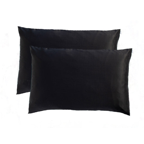 Pair of black silk pillowcases NZ for the best nights sleep