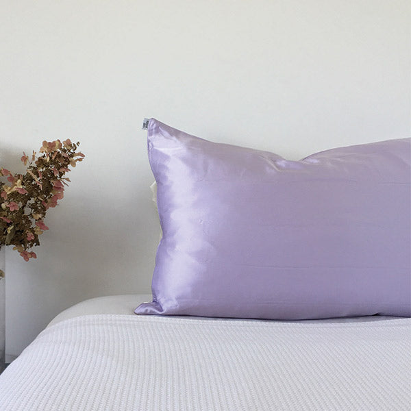 100% mulberry silk pillowcase purple lilac by monday silks