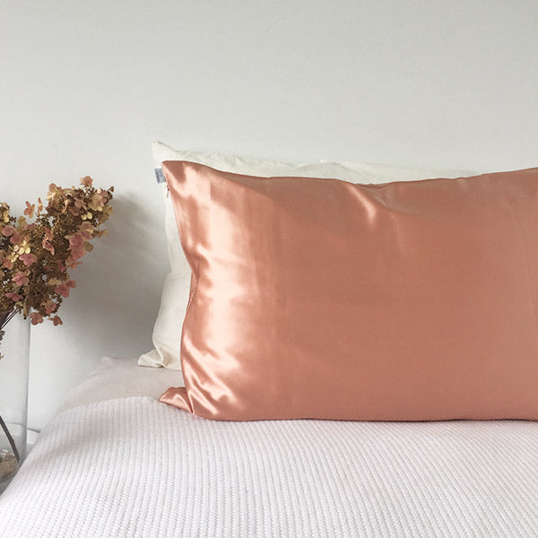 Rose Gold Silk Pillowcase - Std