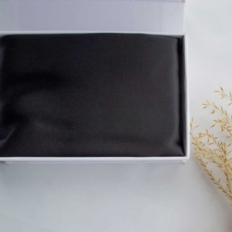 Black Silk Pillowcase - Std - Monday Silks