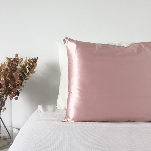 Pink Silk Pillowcase - Std