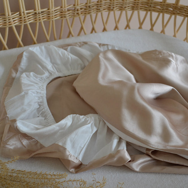 Silk Bassinet Sheet Fitted - Nude | Monday Silks