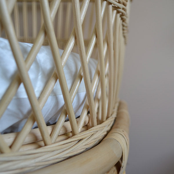 Silk Bassinet Sheet Fitted - white  | Monday Silks