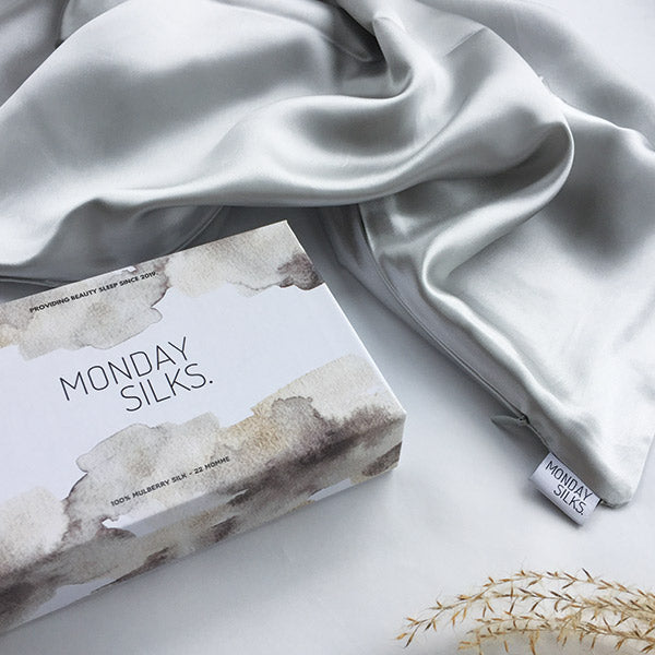 Light Grey Silk Pillowcase - Std