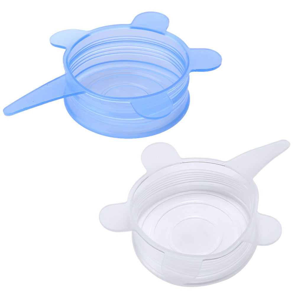 6PCS/Set Universal Silicone Stretch Lid Cover Suction Lid-bowl Pan Cooking Pot Pan Spill Lid Stopper Cover Kitchen Gadgets