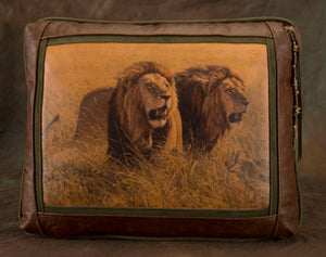 Banovich Wild Accents-Brothers in Arms-Leather Pillow