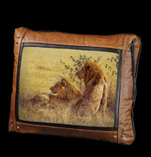 Banovich Wild Accents-In Their Prime-Leather Pillow